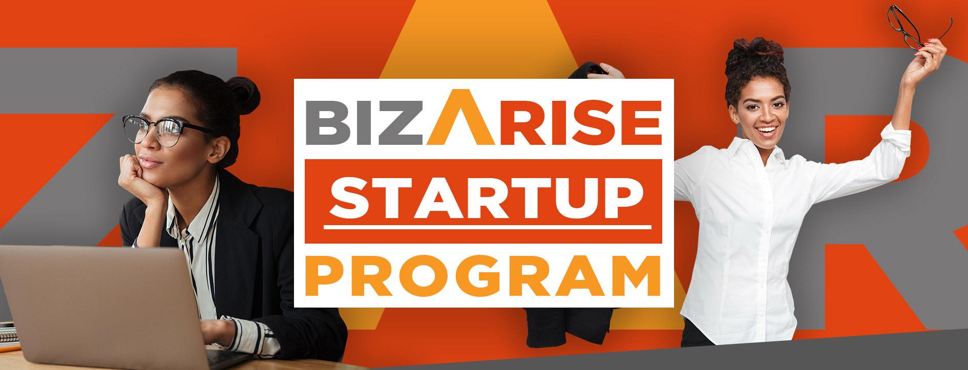 BizArise Startup Program 2020 Website Event Banner